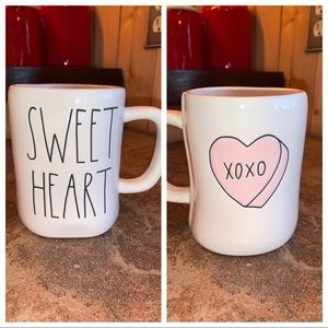 "Rae Dunn ""Sweetheart"" Double sided Mug"